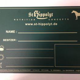 St Hippolyt Boxenschild Naamplaat