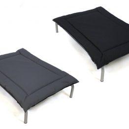 Water Resistant Reversible Pad Large Zwart Grijs